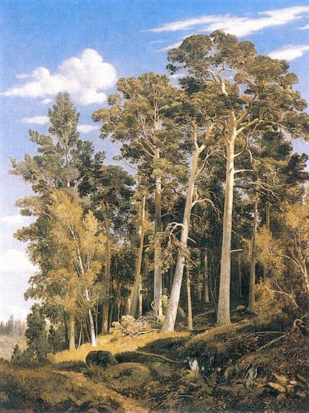Pine forest, 1866 - Iván Shishkin