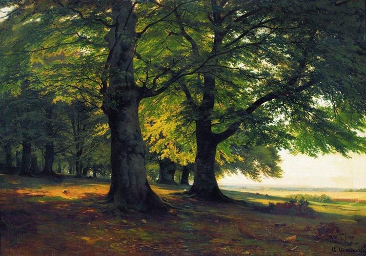 The Teutoburg Forest 1865 Ivan Shishkin Wikiart Org