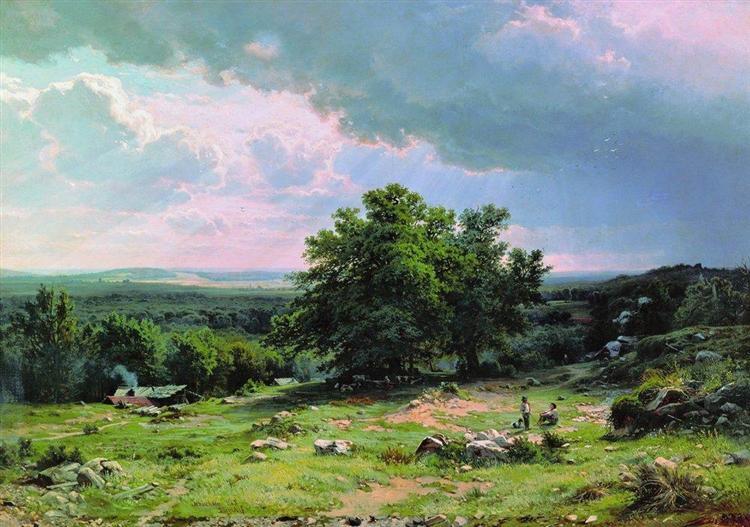 View near Dusseldorf, 1865 - Ivan Shishkin