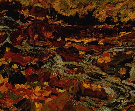 Leaves in the Brook, 1919 - J. E. H. MacDonald