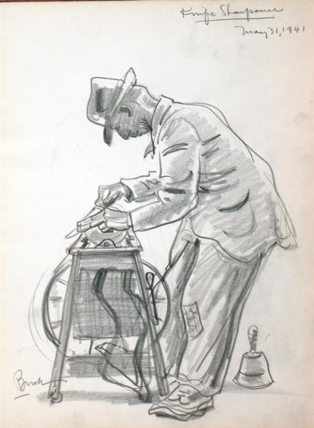 Knife Sharpener, 1941 - Jack Bush