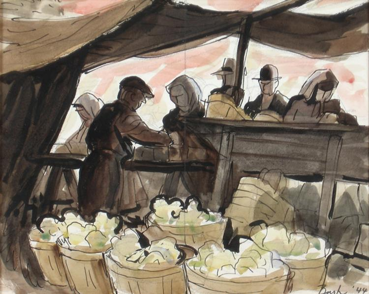 Sketch, North York Market, 1944 - Jack Bush