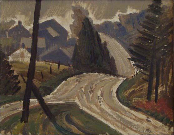 The Wet Road - Jack Bush