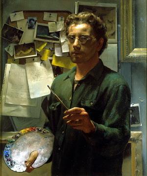 Self Portrait with Palette - Jacob Collins