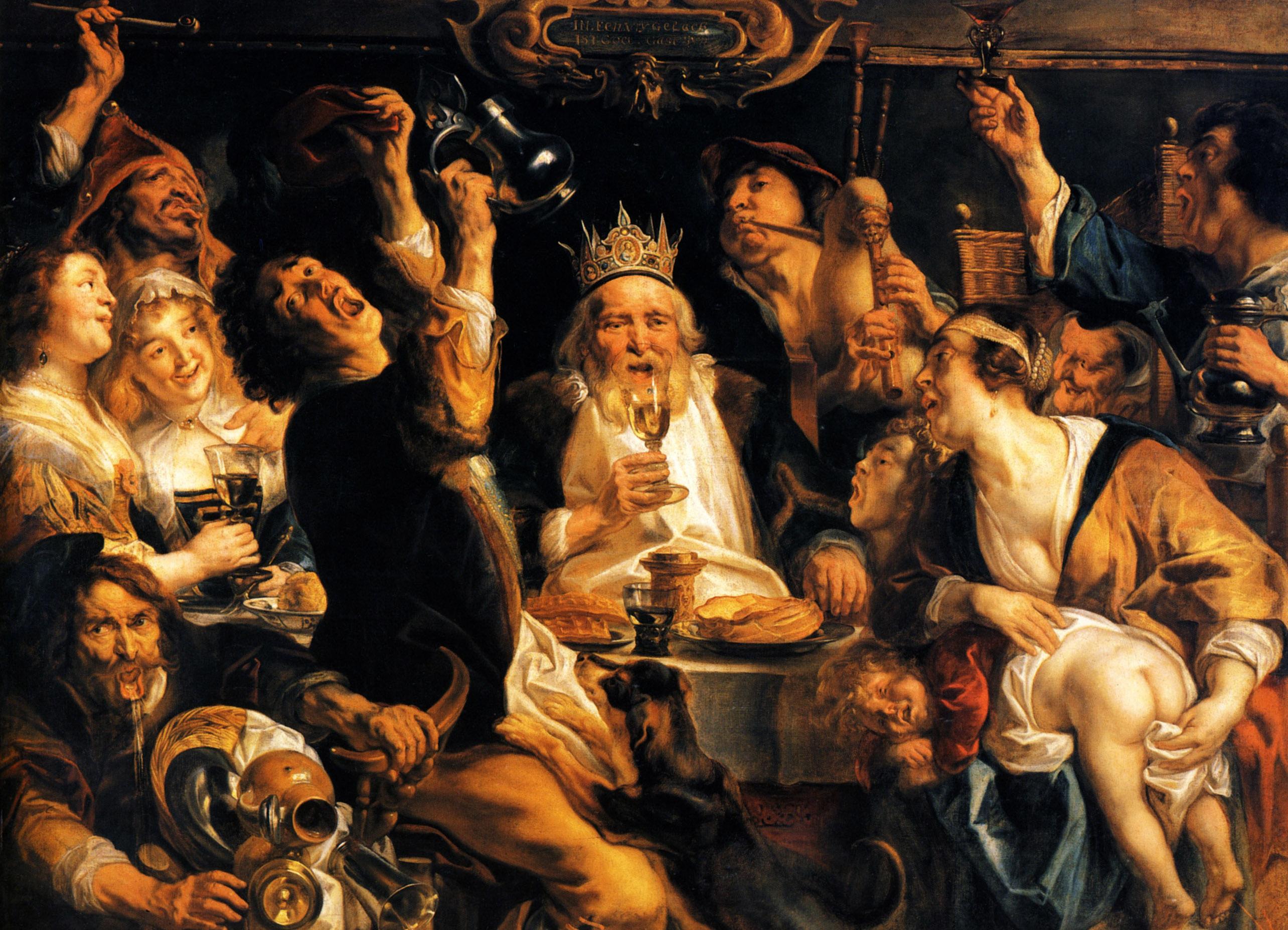 King Drinks, 1640 - Jacob Jordaens - WikiArt.org