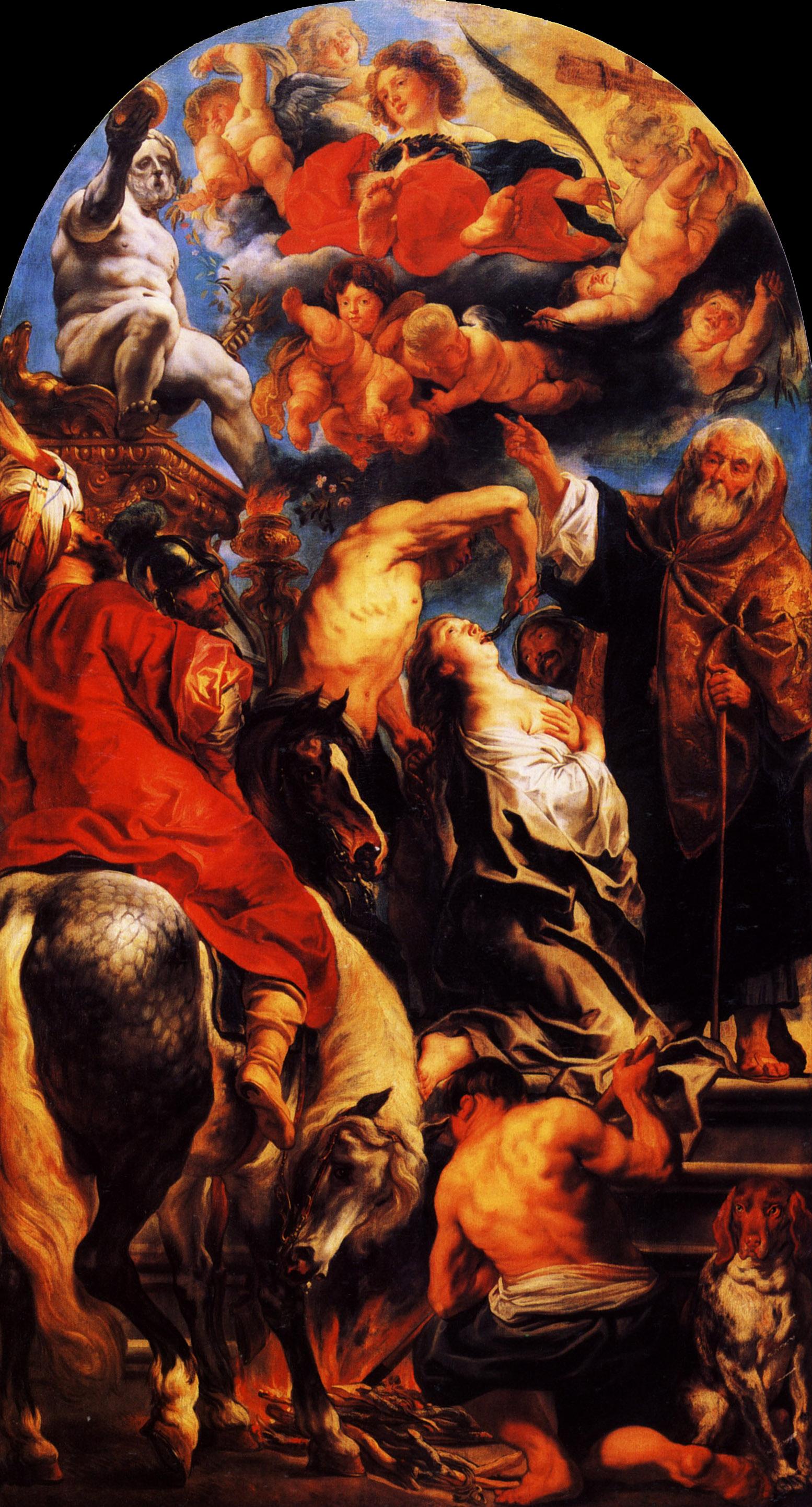 The Martyrdom Of St Apollonia 1628 Jacob Jordaens