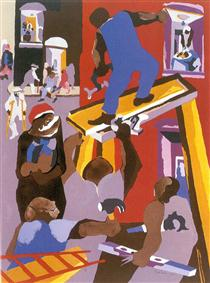 Man on a Scaffold - Jacob Lawrence
