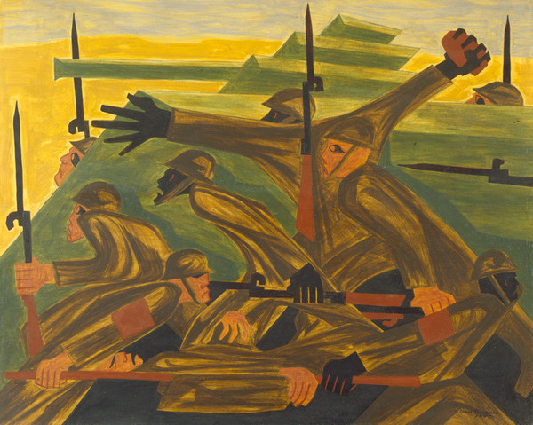 War Series: Beachhead, 1947 - Jacob Lawrence
