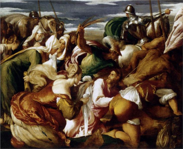The Road to Calvary - Jacopo Bassano