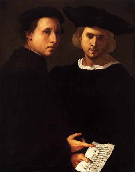 Portrait of Two Friends, c.1522 - Jacopo Pontormo