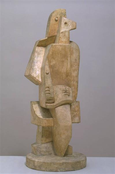 Seated Man with Clarinet I, 1920 - Jacques Lipchitz