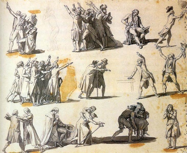 Deputies swearing oaths, 1791 - Jacques-Louis David