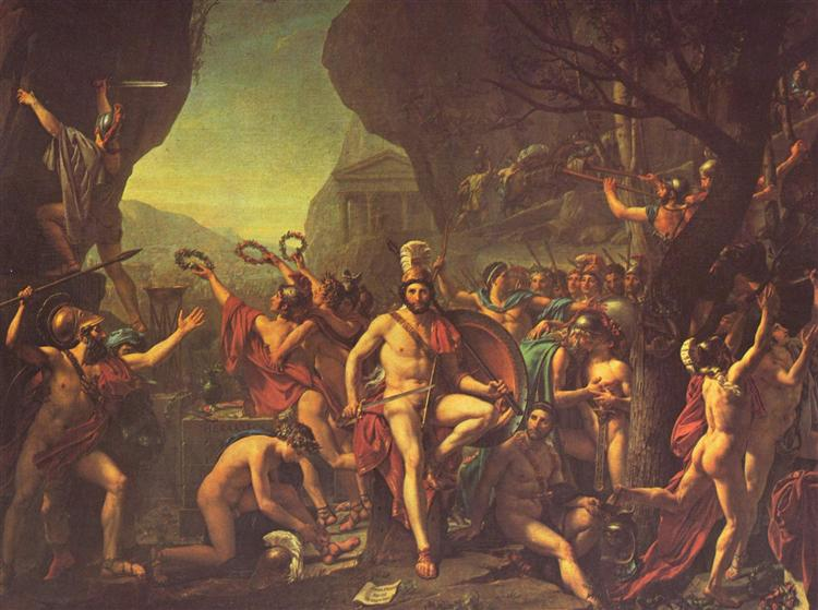 Leonidas at Thermopylae, 1814 - Jacques-Louis David