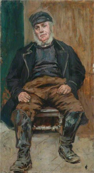 A Staithes Fisherman, 1899 - James Charles