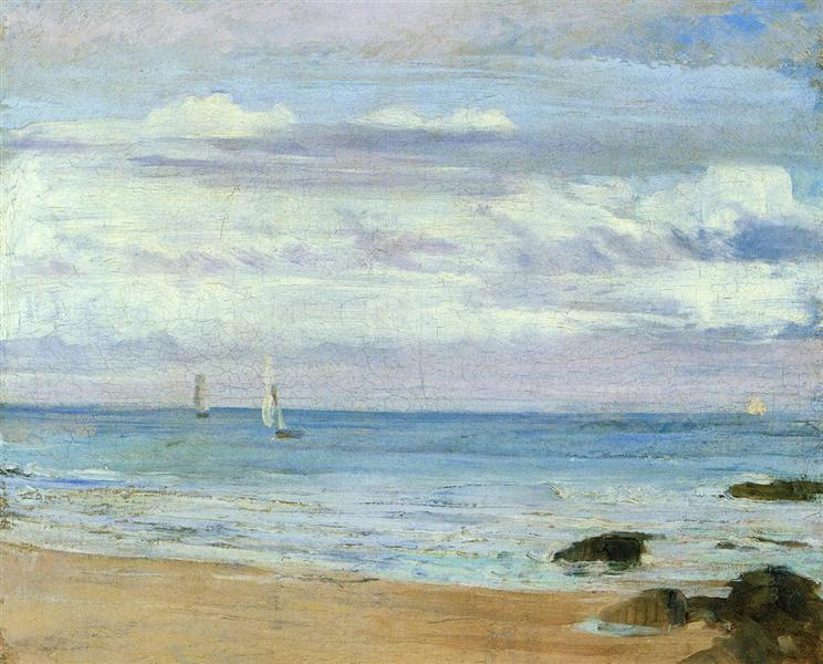 Blue and Silver Trouville, 1865 - James McNeill Whistler
