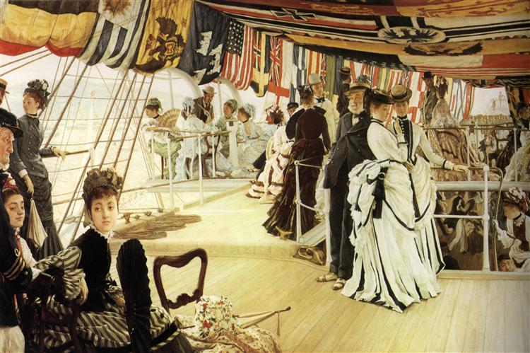 Ball on Shipboard, c.1874 - James Tissot