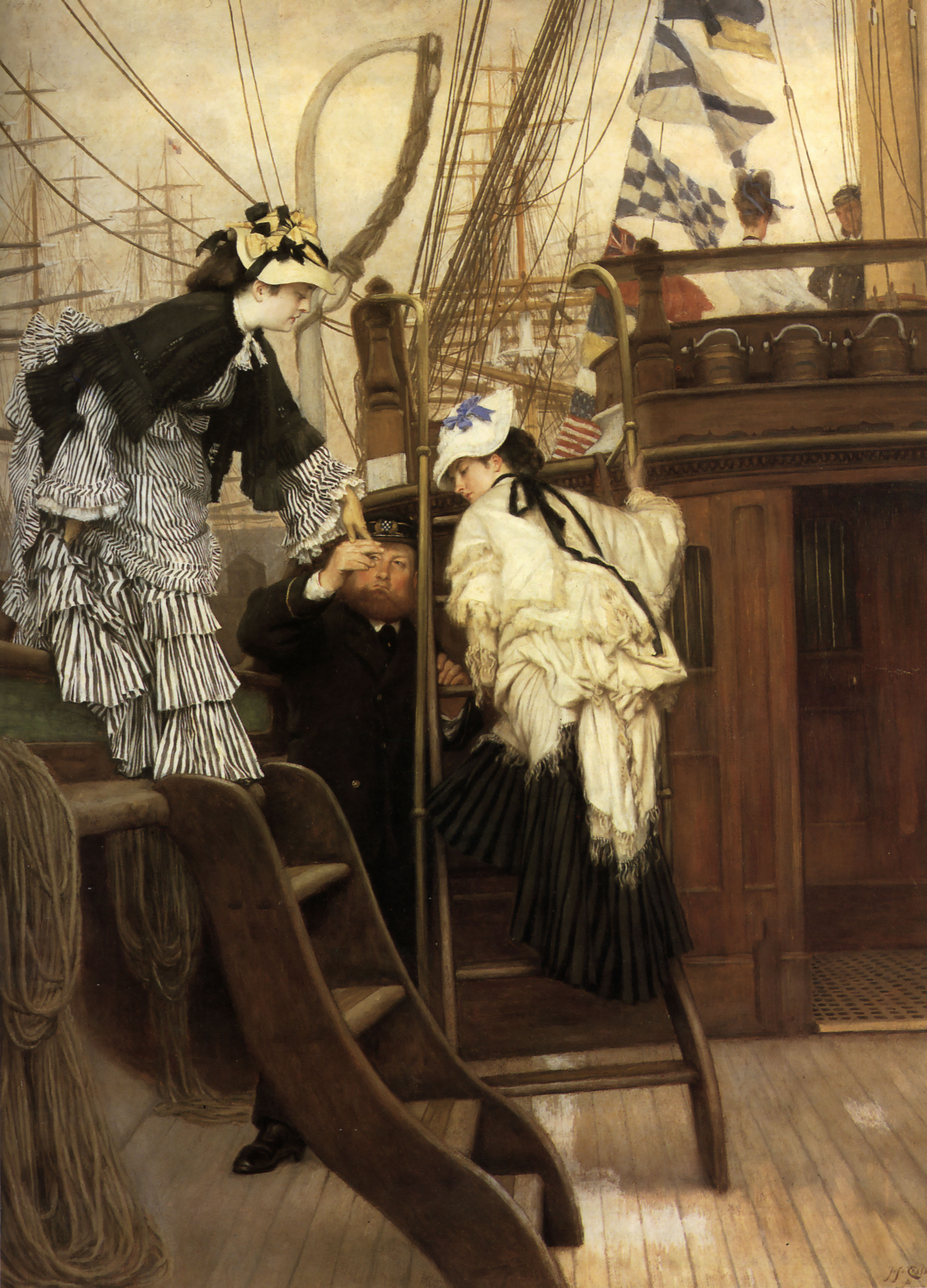 James Tissot  - Page 3 Boarding-the-yacht