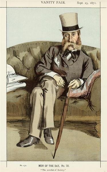 Caricature of George Whyte Melville - James Tissot