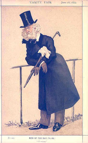 Man of the day No.65° - Caricature of Mr Washington Hibbert, 1873 - James Tissot