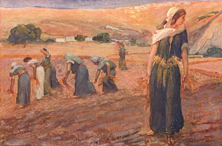 Gleaners, as in Deuteronomy - James Tissot