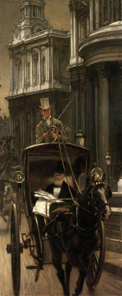 Going to Business, c.1879 - James Tissot