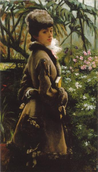 In the greenhouse, c.1867 - c.1869 - James Tissot