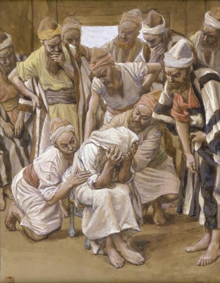 Jacob Mourns His Son Joseph, c.1896 - c.1902 - James Tissot
