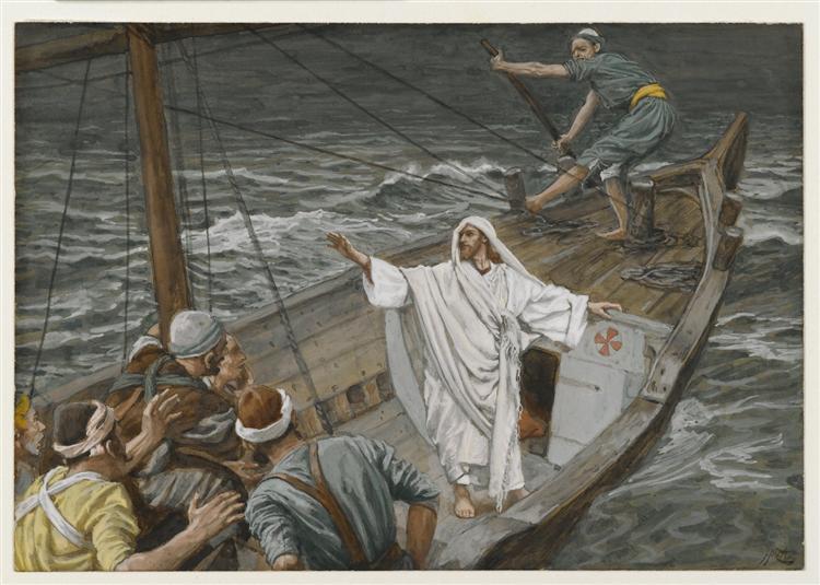 Jesus Stilling the Tempest - Джеймс Тиссо