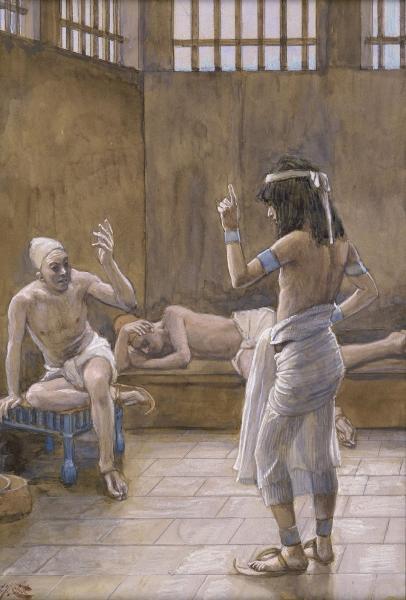 Joseph Interprets the Dreams While In Prison, c.1896 - c.1902 - James Tissot