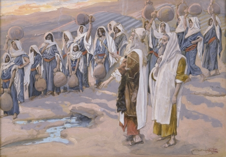 Moses Smiteth the Rock in the Desert, c.1896 - c.1902 - James Tissot