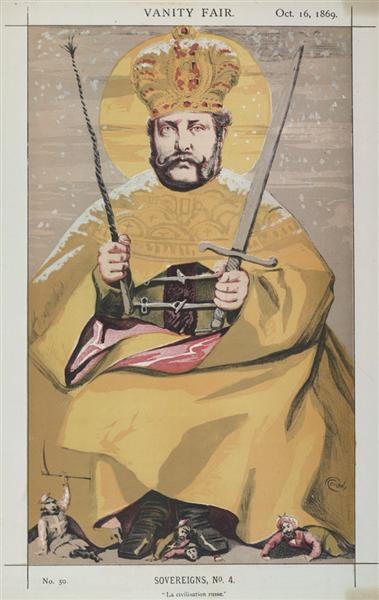Sovereigns No.40 Caricature of Alexander II of Russia - James Tissot