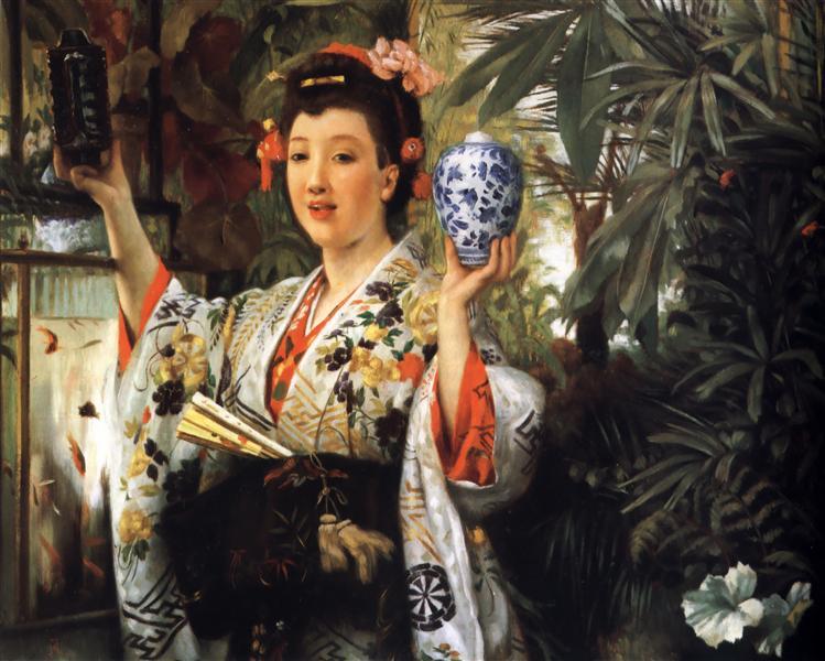 The Japanese Vase, c.1870 - James Tissot