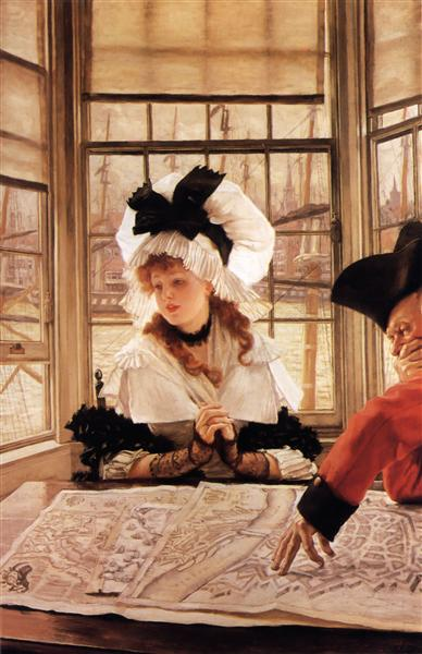 The Tedious Story, c.1872 - James Tissot