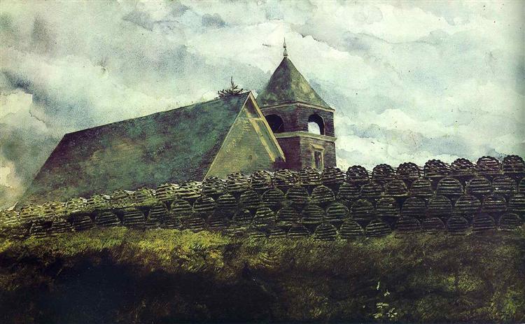 Island Church, 1969 - Jamie Wyeth