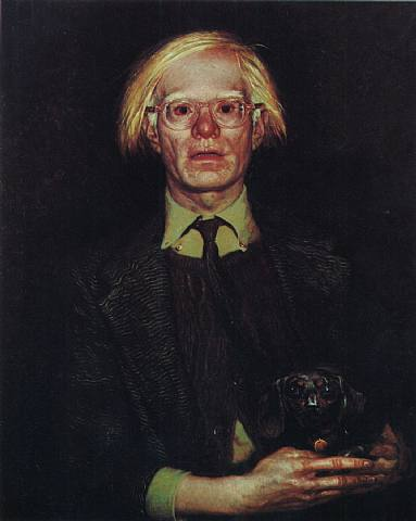Portrait of Andy Warhol, 1976 - Jamie Wyeth