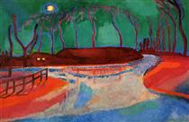 Full moon on the water - Jan Sluyters