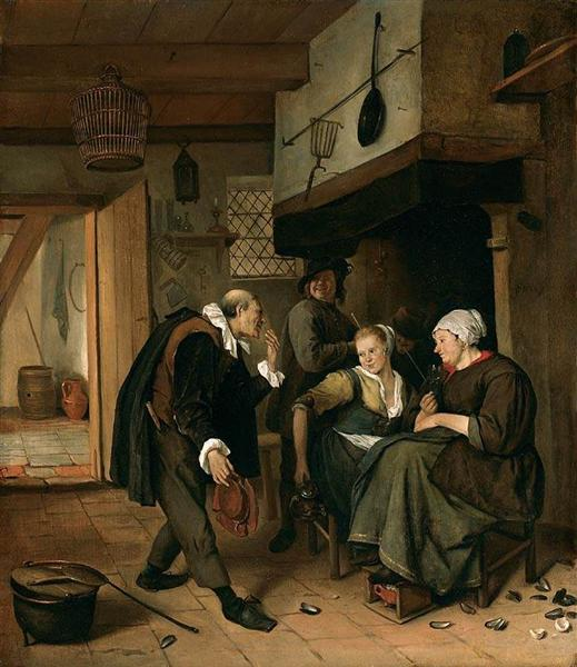 An old to Young Girl, c.1665 - Jan Steen