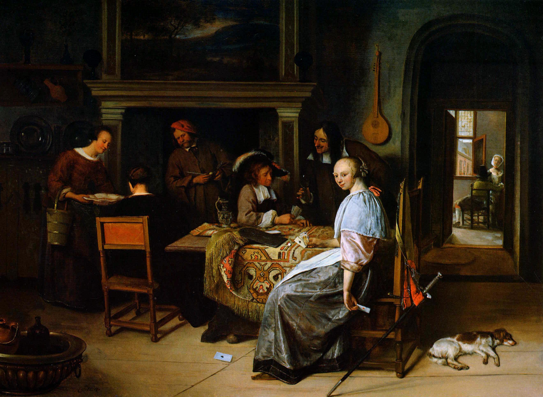 Card players - Jan Ste... Thomas Eakins Paintings