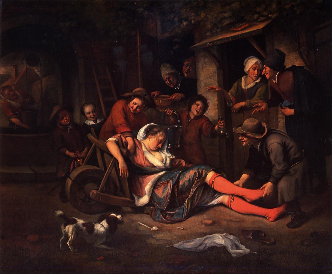 Public Domain Art Men Drinking Wine