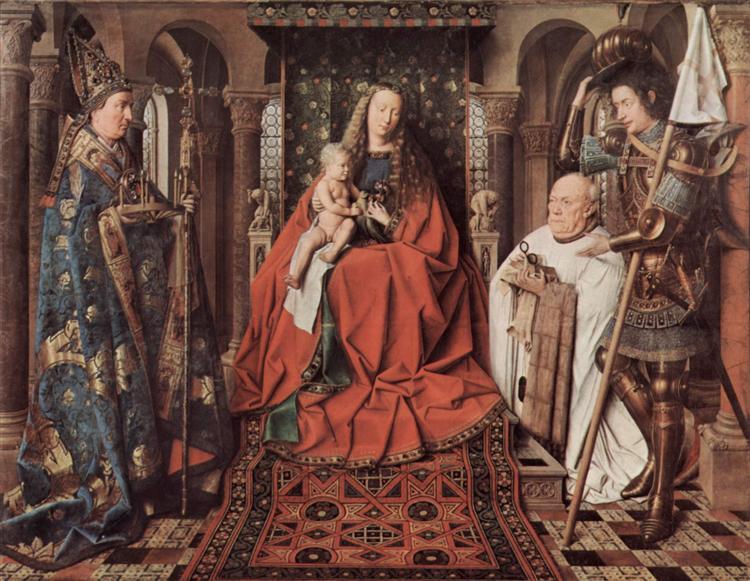 Madonna and Child with Canon Joris van der Paele, 1436 - Jan van Eyck
