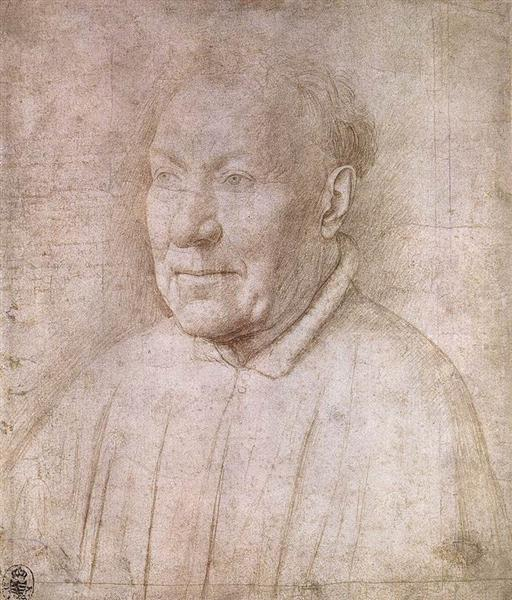 Portrait of Cardinal Albergati, 1435 - Jan van Eyck