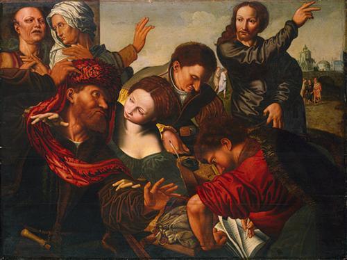 Jesus Summons Matthew to Leave the Tax Office - Jan van Hemessen