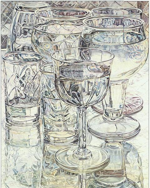 Wine and Cheese Glasses, 1975 - Janet Fish