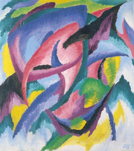 Composition, 1920 - Янош Маттис-Теуч