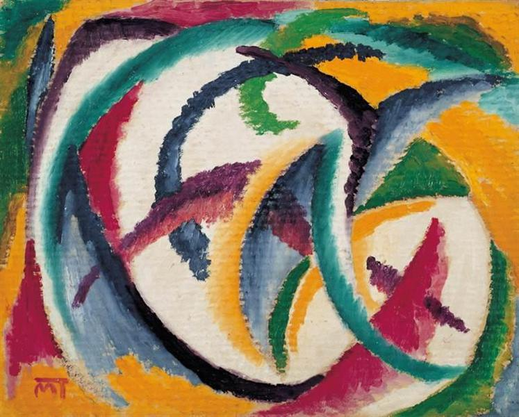 Composition, 1920 - Янош Маттіс-Теуч