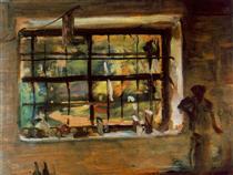 Fenêtre de l'atelier - Janos Tornyai