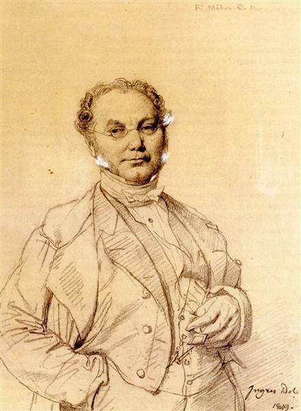 Dr. François Melier - Jean Auguste Dominique Ingres