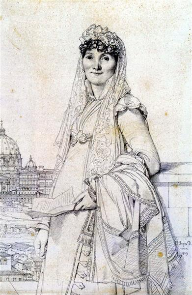 Madame Guillaume Mallet, born Anne Julie Houel - Jean Auguste Dominique Ingres