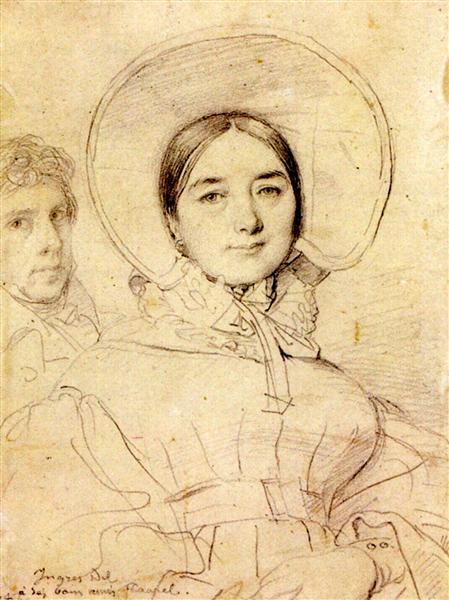 Madame Jean Auguste Dominique Ingres, born Madeleine Chapelle II - Jean Auguste Dominique Ingres