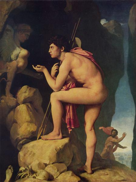 Oedipus and the Sphinx, 1808 - Jean Auguste Dominique Ingres